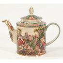 PORCELAIN TEAPOT SCENIC FRENCH PASTORAL DESIGN F