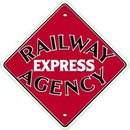 RAILWAY EXPRESS AGENCY PORCELAIN COAT SIGN METAL SIGNS