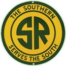 SOUTHERN RAILROAD PORCELAIN OVERLAY SIGN