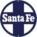 SANTE FE PORCELAIN-OVERLAY METAL SIGN