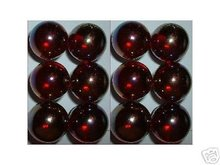 CLEAR RED SHOOTER MARBLES TWO POUNDS 7/8 INCH
