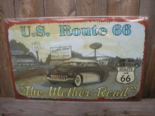 US ROUTE 66 THE MOTHER ROAD TIN SIGN