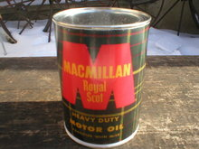 NEW MACMILLAN ROYAL SCOT MOTOR OIL 32 FL. OZ. METAL CAN