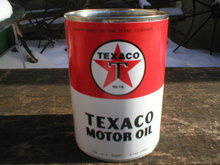 NEW TEXACO MOTOR OIL 32 FL. OZ. METAL CAN