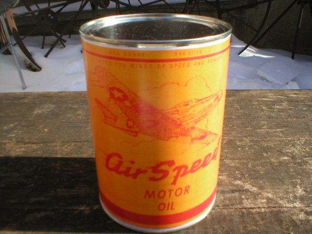 NEW AIR SPEED MOTOR OIL 32 FL. OZ. METAL CAN