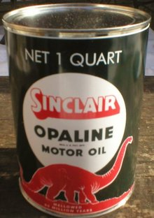 NEW SINCLAIR OPALINE MOTOR OIL 32 FL. OZ. METAL CAN