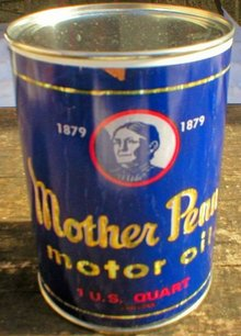 NEW MOTHER PENN MOTOR OIL 32 FL. OZ. METAL CAN