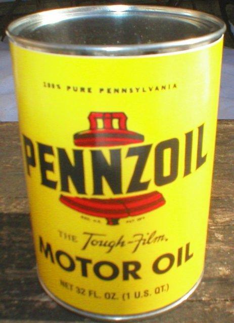 NEW PENNZOIL MOTOR OIL 32 FL. OZ. METAL CAN