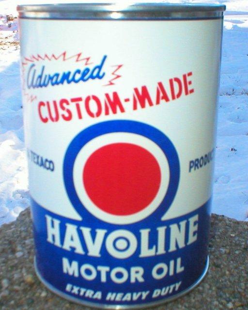 NEW HAVOLINE MOTOR OIL 32 FL. OZ. METAL CAN