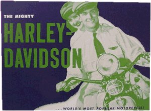 MIGHTY HARLEY DAVIDSON TIN METAL SIGN