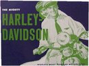 MIGHTY HARLEY DAVIDSON TIN METAL SIGN
