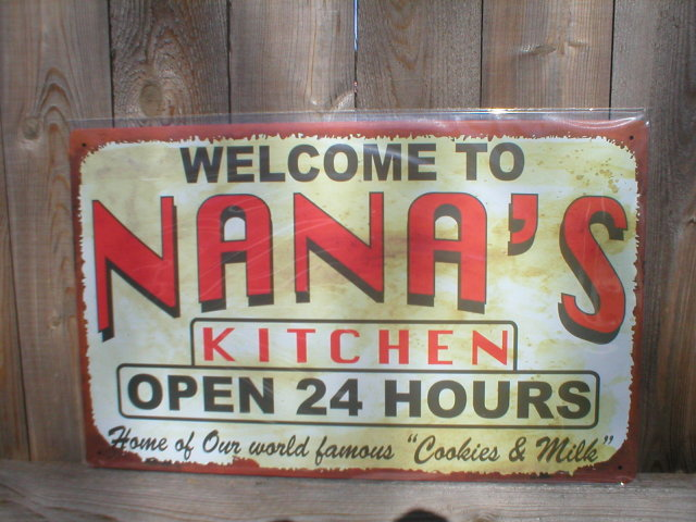 NANA'S KITCHEN TIN METAL SIGN