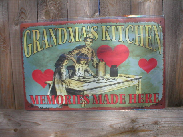 GRANDMA'S KITCHEN TIN METAL SIGN