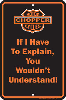 CHOPPER MOTORCYCLES ALUMINUM SIGN METAL ADV SIGNS C