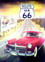 ROUTE US 66 MOTHER ROAD RETRO TIN SIGN METAL SIGNS R