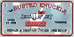 BUSTED KNUCKLE LICENSE PLATE RETRO TIN SIGN METAL SIGNS