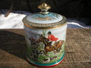 ENGLISH FOX HUNT MOTIF SCENE ON TOBACCO JAR E