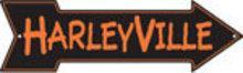 HARLEYVILLE ARROW RETRO TIN SIGN METAL ADV SIGNS H
