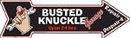 BUSTED KNUCKLE RETRO TIN SIGN METAL ADV AD SIGNS B
