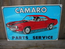 CAMARO PARTS SERVICE TIN METAL SIGN