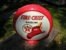 TEXACO FIRE CHIEF GAS PUMP GLOBE SIGN GAS OIL STATION DECOR