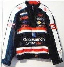 NEW DALE EARNHARDT LEATHER JACKET COAT SIZE LARGE NWT