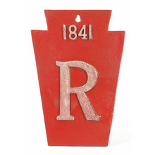 FIREMAN SIGN RED FIREMARK 1841 R PLAQUE