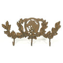 CAST IRON HORSE THREE HOOK WALL HANGER COAT RACK H