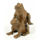 CAST IRON LEAPING FROGS DECORATIVE FROG GARDEN  DECOR F