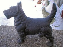 SCOTTY CAST IRON BLACK DOG DOORSTOP