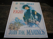 MARINES POSTER PRINT SIGN RETRO ADV AD SIGNS M