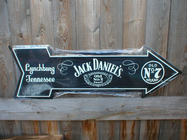 JACK DANIELS ARROW METAL SIGN