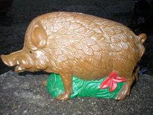 WILD PIG HOG BANK CAST IRON