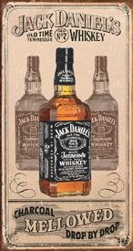 JACK DANIEL'S WHISKEY TIN SIGN METAL ADV AD SIGNS J