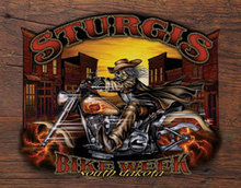 STURGIS WILD BILL '05 TIN SIGN METAL ADV AD SIGNS S