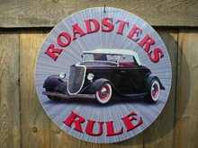 ROADSTERS RULE METAL SIGN FORD COLLECTOR SIGNS R