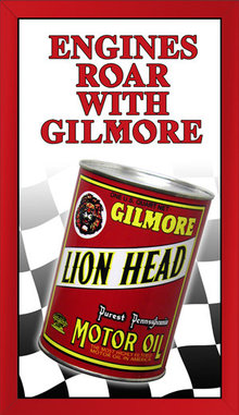GILMORE MOTOR OIL TIN METAL SIGN