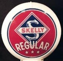 SKELLY REGULAR GAS PUMP GLOBE SIGN