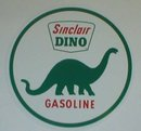 SINCLAIR DINO ROUND VINYL DECAL GAS PUMP GLOBE DECOR S