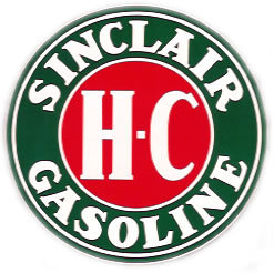 SINCLAIR H-C ROUND VINYL DECAL GAS PUMP GLOBE DECOR S