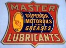 MASTER LUBRICANTS TIN METAL SIGN