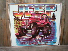 JEEP SIGN RETRO ADV AD AUTO VEHICLE SIGNS J