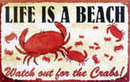 LIFE IS A BEACH TIN SIGN DECORATIVE METAL ADV SIGNS N