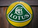 LOTUS PORCELAIN-COATED METAL SIGN ROUND ADV SIGNS L