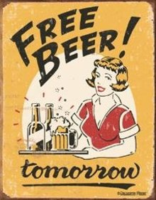 FREE BEER TIN METAL SIGN