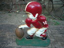 CAST IRON BOY FOOTBALL PLAYER DOORSTOP IRONWARE DECOR F