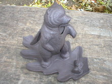CAST IRON BEAR NUTCRACKER HOME OFFICE DECOR B