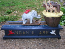 NOAH'S ARK MECHANICAL BANK IRONWARE DECOR N