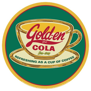 GOLD-EN COLA COFFEE TIN SIGN