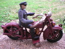 POLICEMAN ON MOTORCYCLE FRONT WHEEL CLACKER P